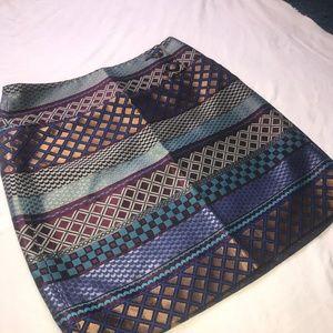 Anthropologie Maeve Audra Gold Multi Skirt